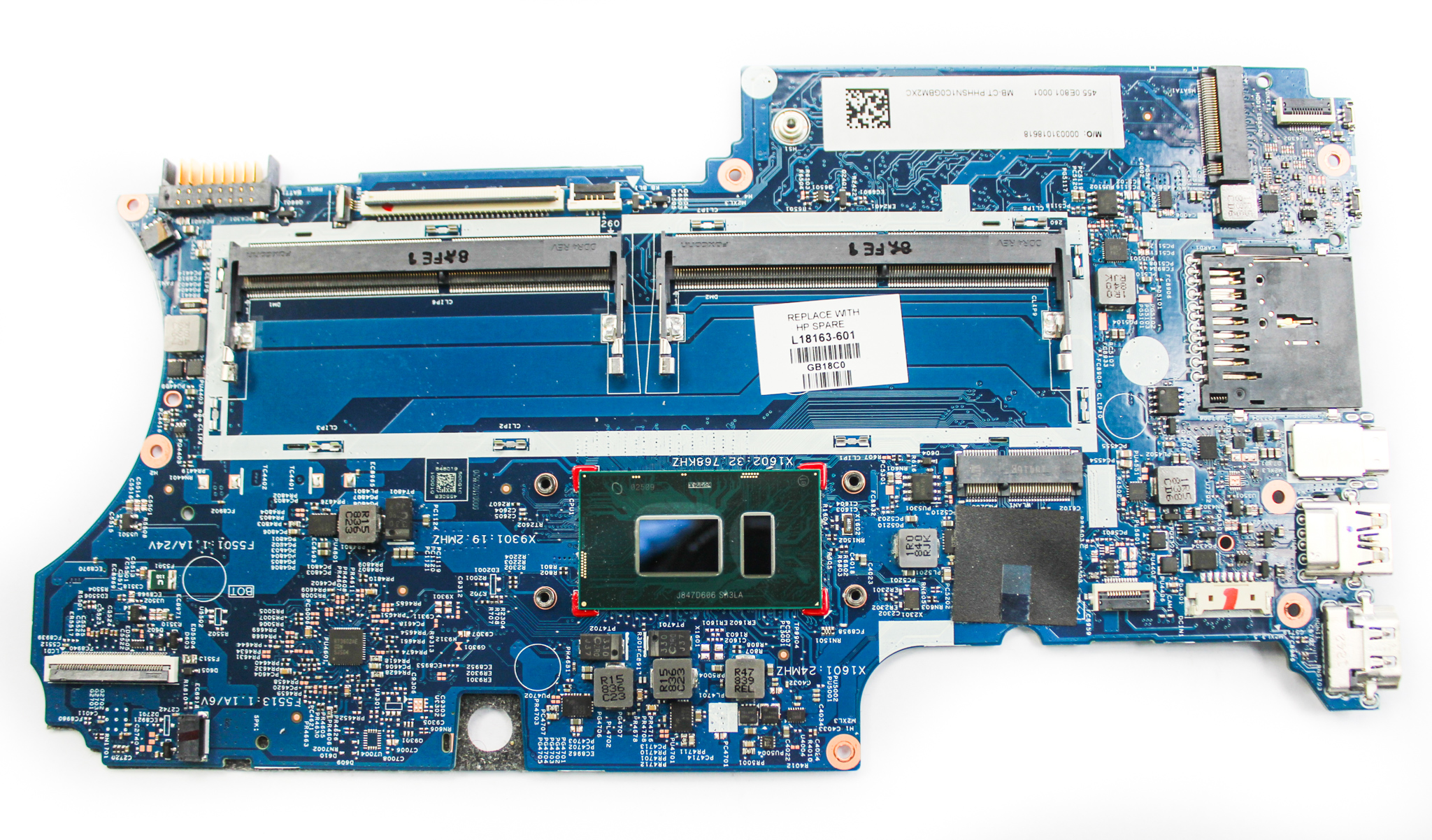 L18163-601 HP x360 convertible 14-cd0xxx Laptop motherboard /w Core i5-8250U CPU